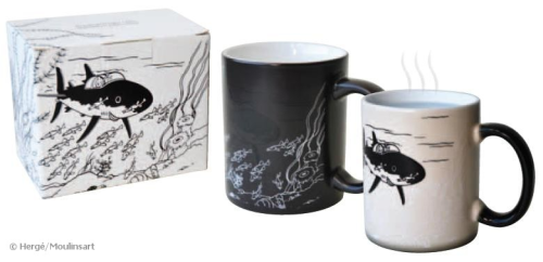 "Magic Tasse ""Haifisch U-Boot"" Tintin Tim und Struppi, Moulinsart"