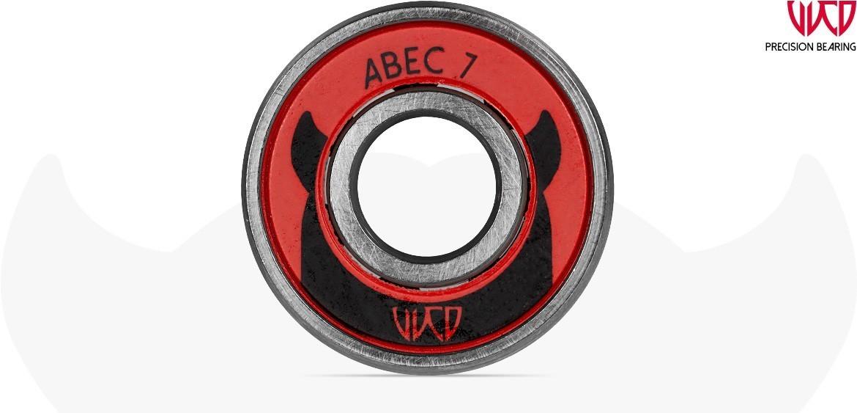 Kugellager Powerslide Kugellager Wicked Bearings ABEC 7 Freespin 16 Stück Inliner Teile & Zubehör