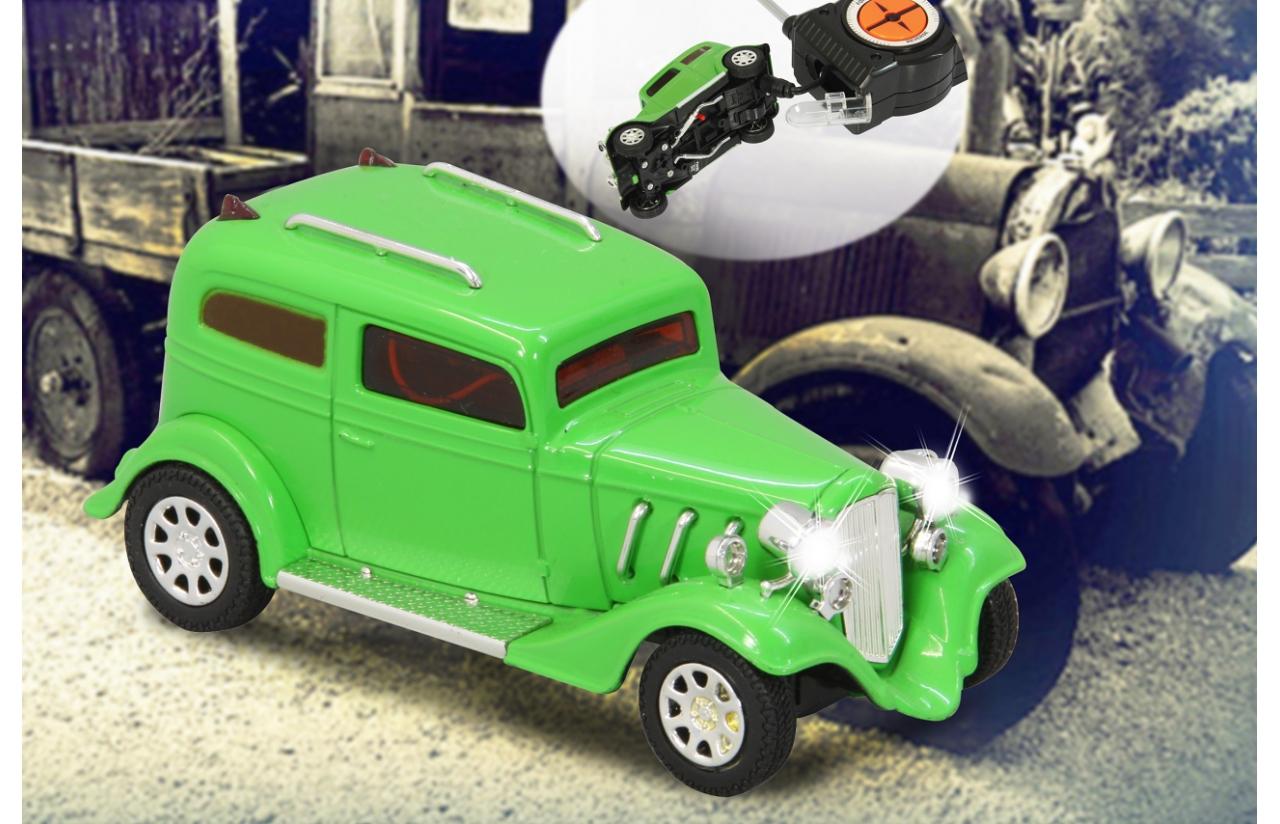 hotrod gr n mit licht 27mhz mini x modellauto jamara. Black Bedroom Furniture Sets. Home Design Ideas
